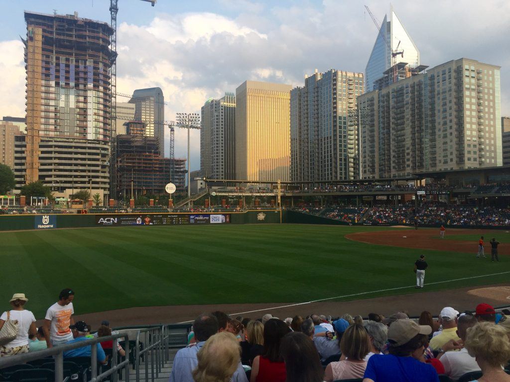 Life in charlotte - Knights game