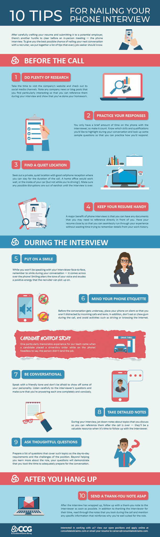 CCG Phone Interview Tips